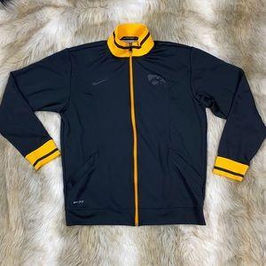 Blackout Nike Dri-Fit Iowa Hawkeye Zip-Up Jacket
